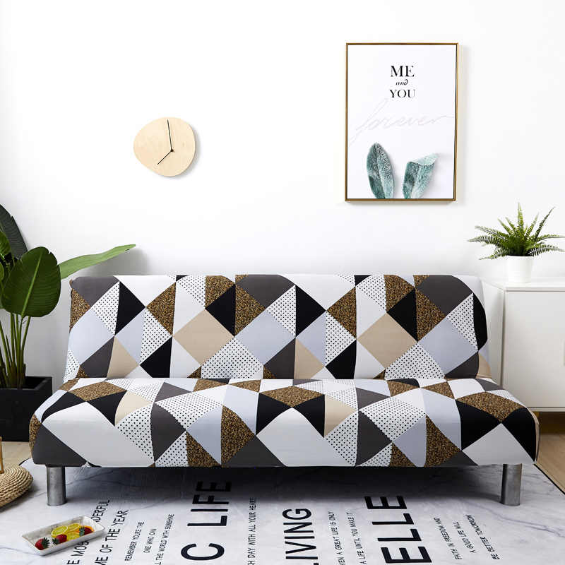 All-Inclusive Penutup Sofa Bunga Tanpa Sandaran Tangan Sofa Bed Cover Ketat Wrap Pelindung Elastis Sarung Sofa Cover Funda Sofa