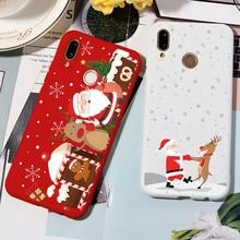 Merry Christmas Deer Soft TPU Case For Huawei Honor 9X 8X 10