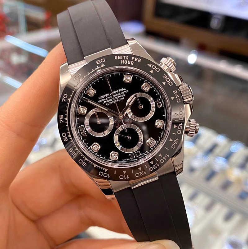 高級メンズビジネス機リング腕時計メンズトップブランド腕時計クロノグラフrlx aaaデイトナストップウォッチファッションギフトmontreオム