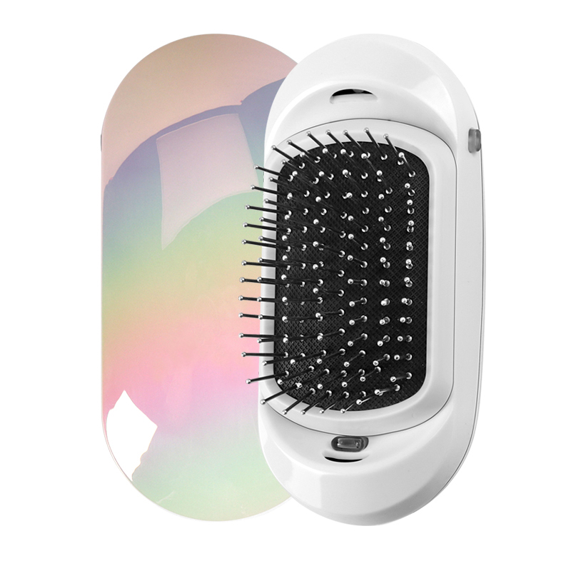 Mini Hair Comb Fashionic Ionic Hair Straightener Electric Massage Hair Brush Potable Ionic Comb Take Out Frizz And Flyways