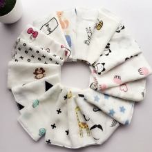 10pcs Baby Infant Towel 28*28cm Muslin Handkerchiefs Two Layers Wipe