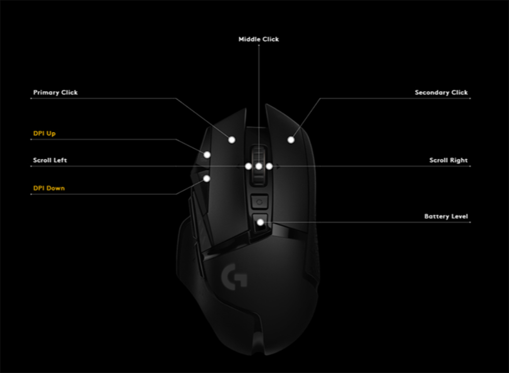 Logitech g502 lightspeed mouse jogo com 16000