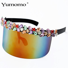 Large frame colorful water drill Glasses Womenfolk Sexy Female Male Sun