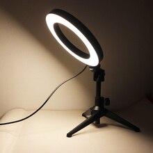 Tripod-Stand Ring-Light Selfie-Stick Screw-Mount-Holder Camera-Accessories Desktop Adjustable