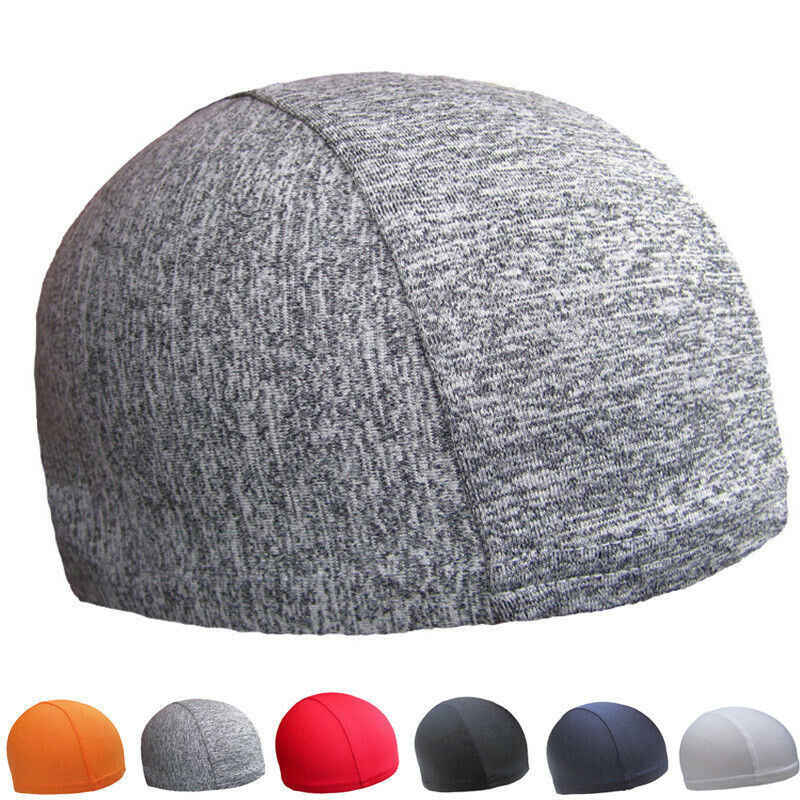2020 New Unisex Men Spring Under Helmet Cap Running Cycling Helmet Liner Skull Cap Beanie Hat Quick Dry Sport Caps