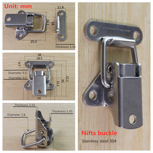 Lock Catch 304-Stainless-Steel Buckle Clasp Toggle-Hasp Airplane Industrial-Fastener-Fittings