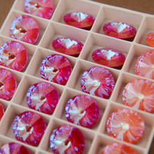 12mm 14mm fantasia pedra rivoli cristais strass ponto volta cristal pedras redondas strass pedra para artesanato diy artesanato needlew