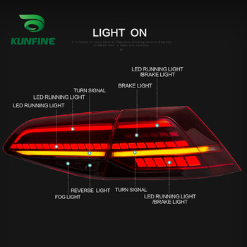 Car Tail Light Assembly For Volkswagen Golf 7 2016- up  Brake Light With Turning Signal Light Car led Tail light
