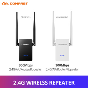 Comfast 300Mbps Wireless WiFi Repeater Signal Amplifier 2*5dbi Antenna Wireless Access Point AP Wi Fi Range Extend Router(China)