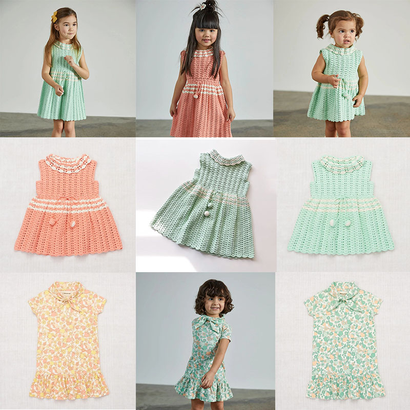EnkeliBB Misha Puff Kid Summer Dresses Brand Design Kids Floral Tutu Dress Baby Beautiful Knitting Dress 2020 New Misha And Puff