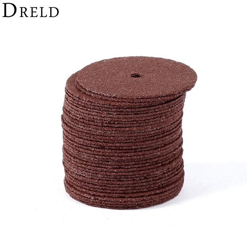 DRELD 36pcsドレメルアクセサリー24mm研磨ディスクカッティングディスク強化カットオフグラインディングホイール回転刃カッタツール