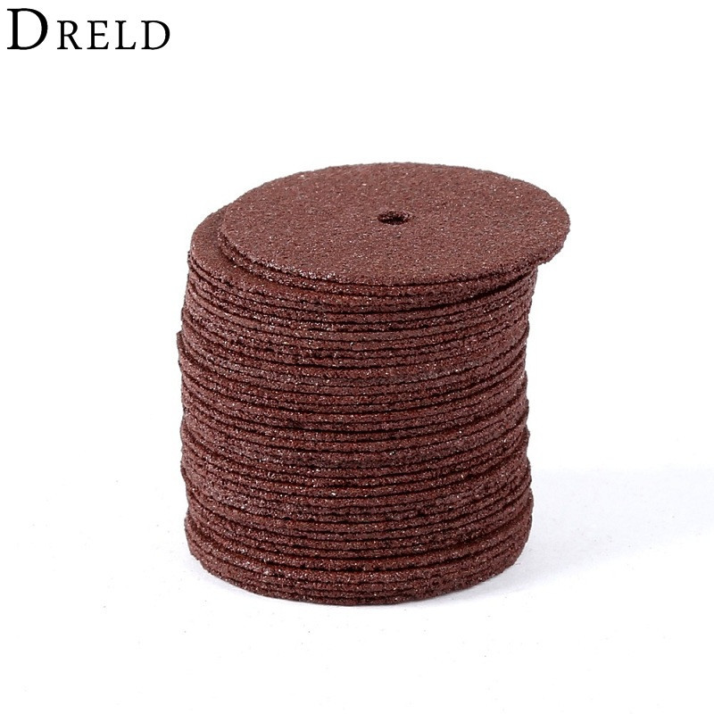 DRELD 36pcs لوازم جانبی dremel 24 میلی متر دیسک های برش دیسک ساینده تقویت شده برش چرخ های چرخنده ابزارهای برش پره