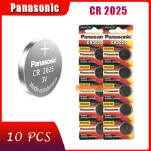 10 stücke original marke neue batterie für PANASONIC cr2025 3v taste cell-münze batterien für uhr computer cr 2025 cheap 165mAh 20mm * 2 5mm Li-ion
