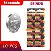 10pcs originale di marca nuova batteria per PANASONIC cr2025 moneta delle cellule del tasto 3v batterie per la vigilanza del computer cr 2025