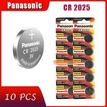 10 pçs original marca nova bateria para panasonic cr2025 3v botão pilha baterias de moeda para relógio computador cr 2025