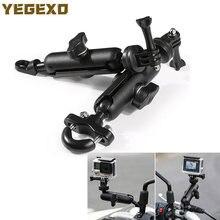 Suporte da câmera da motocicleta espelho suporte de montagem para honda cb190r vfr800 sh 125 hornet 900 áfrica twin crf1000l vtx 1800