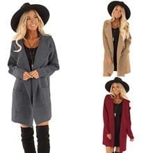 Autumn and winter coat long cardigan lapel mannequin elegant solid color windbreaker pocket ladies