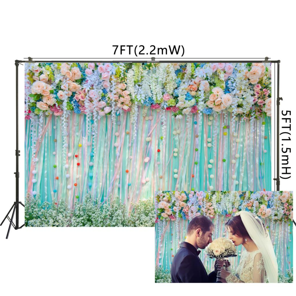 3d Blooming Roses Flower Wall Backdrop For Bridal Shower Wedding