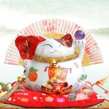 Lucky cat ceramic Feng Shui cat home, hotel, restaurant decoration business gifts lucky cat piggy bank Feng Shui ornaments