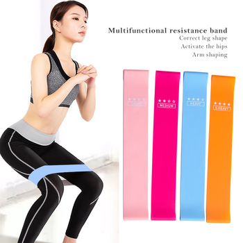 Resistance Bands Fitness Gum Exercise Gym Strength Workout Elastic Bands For Fitness Mini bands Yoga Crossfit Training Equipment image