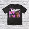 Патрик Swayze 90 винтажная черная футболка унисекс