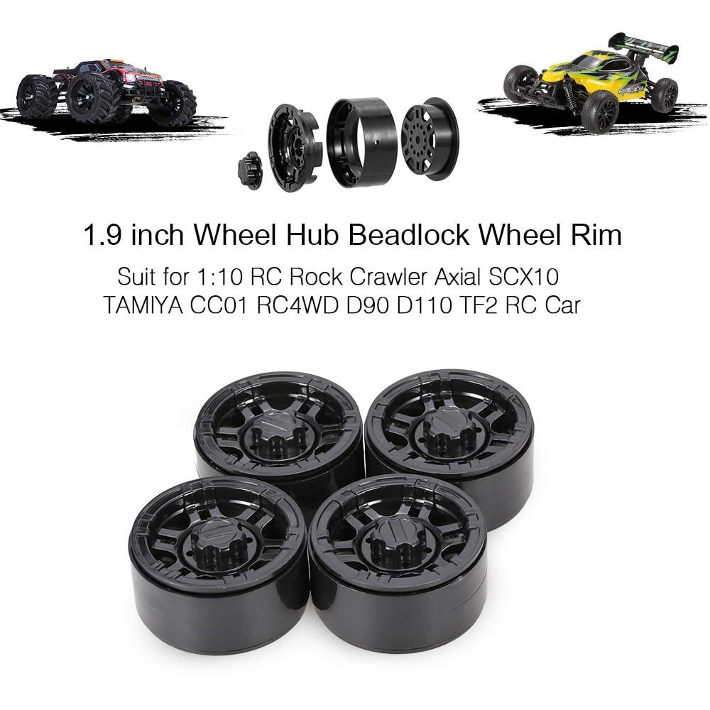 "4Pcs 1.9/"" Beadlock Wheel Hub Rim For 1//10 RC Crawler Axial SCX10 D90 RC4WD CC01"