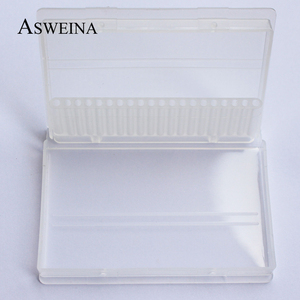 Image 4 - Пластиковые прозрачные сверла для ногтей ASWEINA, 1 шт., 20 отверстий, акриловая коробка, стенд контейнер для демонстрации сверл 3/32 дюйма, инструмент для демонстрации сверл