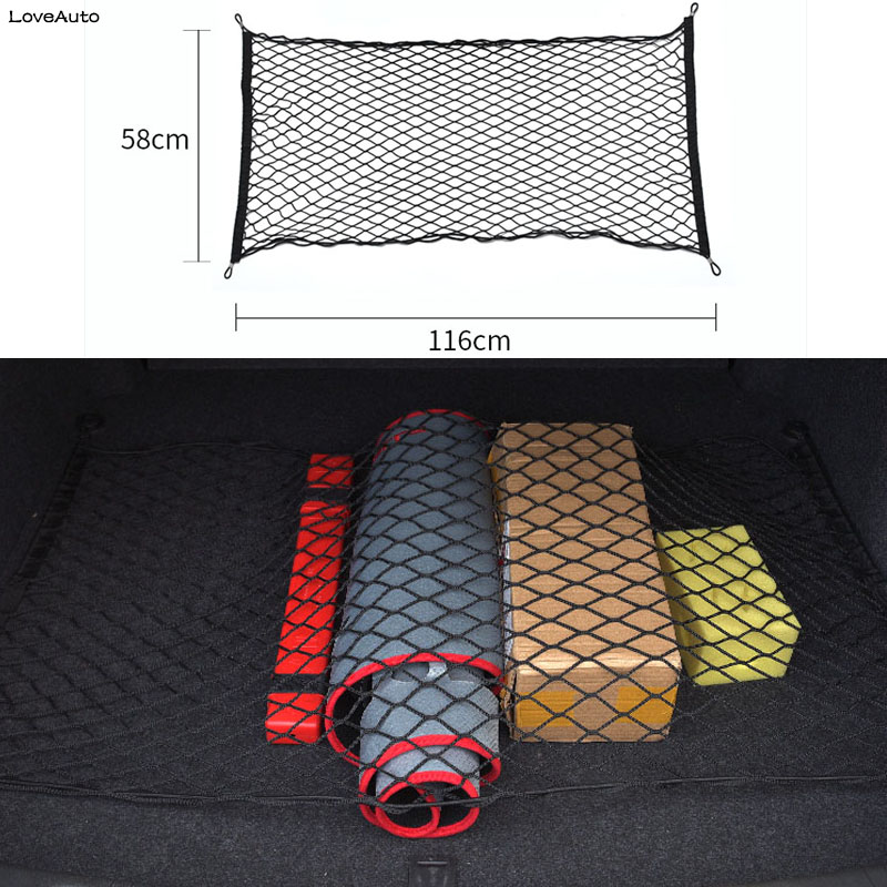 Car Trunk Rear Cargo Organizer Storage Mesh Elastic Mesh Net Bag Luggage For Toyota Land Cruiser Prado LC150 FJ150 2018 2019 image