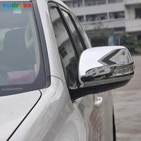 For Toyota Prado J150 J 150 2010 2011 2012 2013 Side Door Rearview Mirror Case Wind Back Up Mirror Chrome Cover Auto Accessories