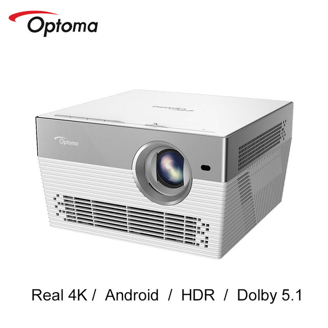 $ US $805.89 Optoma I5+ 4K Projector 3840 * 2160P Video TV 4K DLP Proyector Android Wifi Bluetooth Dolby 5.1 Beamer Home Cinema UHL55 Upgrade