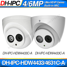 Dahua IPC HDW4433C A IPC HDW4631C A 4MP 6MP Network IP Camera 2.8mm Lens with Power POE CCTV Security Built in MIC 30M IR H.265