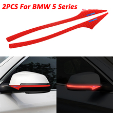 Reflective tape side rearview mirror sticker for BMW E60 F10 F11 F07 5 Series 1 set wiper blades for bmw 5 series e60