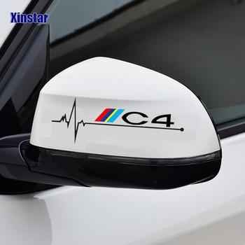 цена на 2pcs car rearview mirror sticker for  for Citroen C1 C2 C3 C4 C5 C6