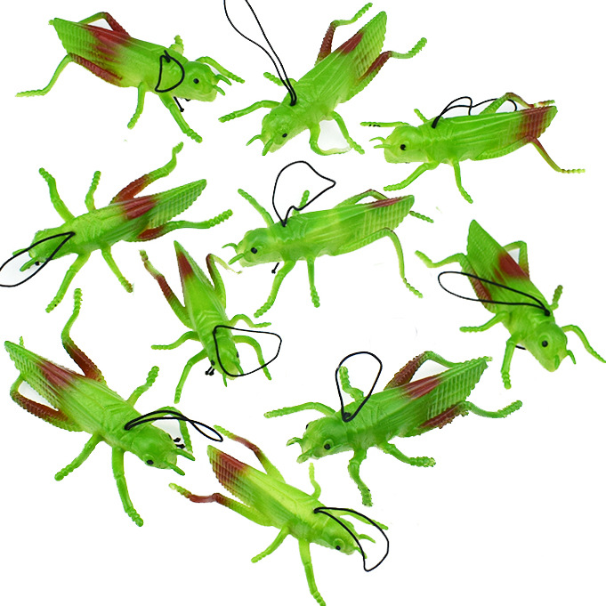 TPR Flexible Glue Model Grasshopper Insect Toy Model Prank Scary Spoof Toy Cross-Border Supply