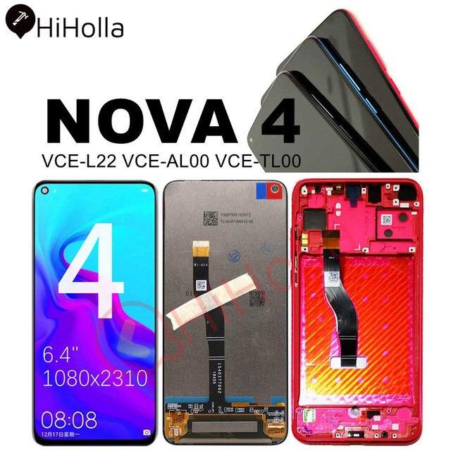 Ban Đầu Màn Hình LCD Cho Huawei Nova 4 Nova4 Màn Hình Hiển Thị LCD Bộ Số Hóa Màn Hình Cảm Ứng VCE L22 Cho Huawei Nova4 Màn Hình LCD Khung Thay Thế