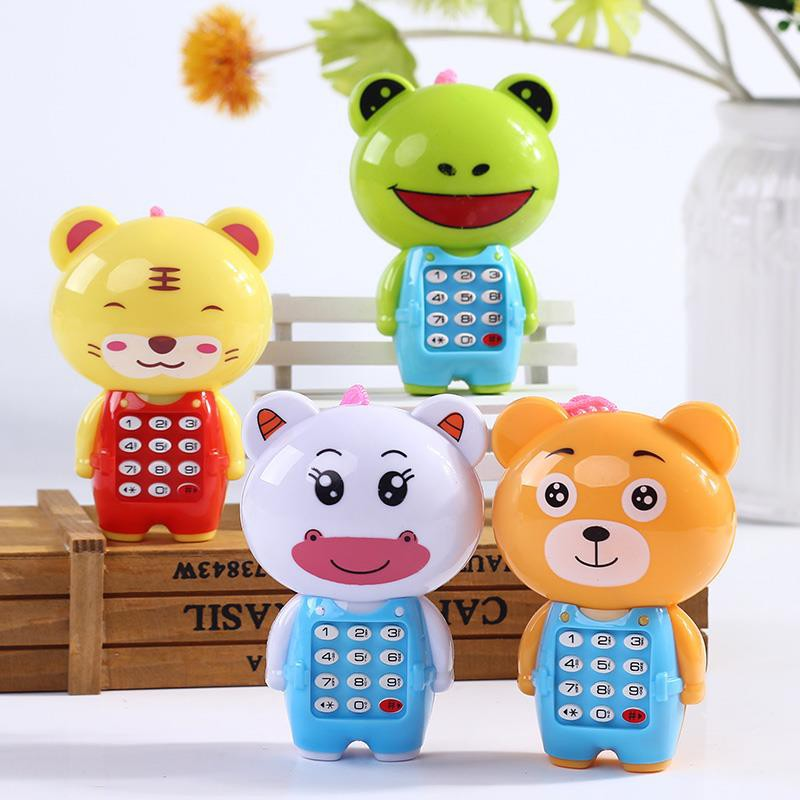 Phone Musical Mini Cute Children Phone Toy Early Education Cartoon Mobile Phone Telephone Cellphone Baby Toys Electronic Toy