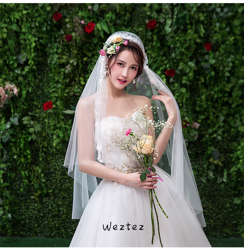 Bridal Veil Simple And Elegent Wedding Veil Bridal Tulle Veils One Layers Short White Wedding Veils TS268