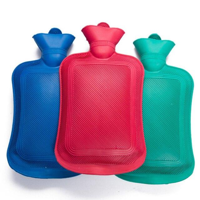 Butelka gorącej wody 2000ML gumy wysokiej gęstości zimowy ogrzewacz dłoni przenośna gruba butelka gorącej wody dziewczyny kieszonkowe stopy termofor
