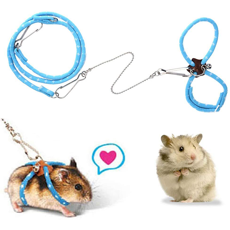 Hamster Harness Rope Pet Hamster Harness Lovely Adjustable Pet Rat Mouse Hamster Harness Rope Ferret Finder Lead Leash With Bell