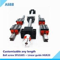 Cnc 키트 guia lineal 20mm 리니어 레일 가이드 HGR20-650/700mm + 리니어 베어링 hgh20ca + 볼 스크류 sfu1605 + bkbf12 + 커플 링