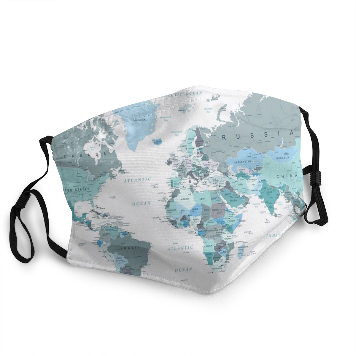 Adventure Awaits World Map Non-Disposable Mouth Face Mask Anti Haze Dust Mask Protection Cover Respirator Mouth Muffle
