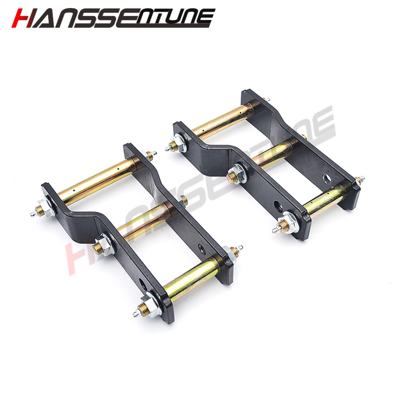 HANSSENTUNE 4x4 Accessories Double shackle 2 Lift Kits Rear Greasable Shackles Kits steel for Ranger 12+ image