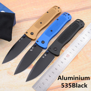 JUFULE OEM BM535 Aluminium handle mark s30v blade folding Survival EDC Tool camping hunting outdoor pocket Fruits Utility knife image