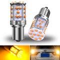2x7507 Bau15s PY21W светодиодный обратный светильник лампы Встроенный резистор Canbus ОШИБОК Нет Hyper флэш 1600lm оранжевый P21W Wy21W лампа
