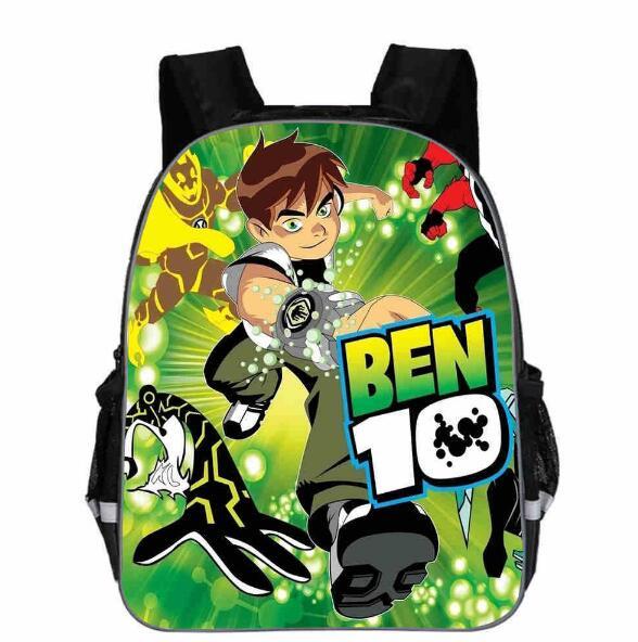 Teenager Ben 10 Cartoon Backpack Boy Cartoon School Bags Hot Primary Backpack School Bags For Boys And Girl Mochila 13 Inch
