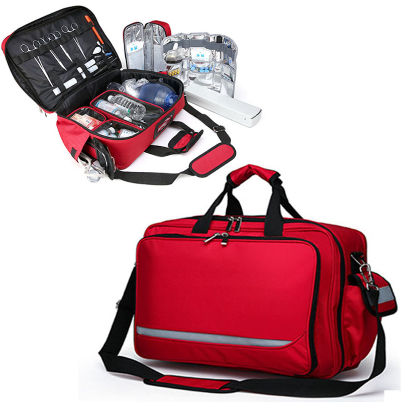 Outdoor First Aid Kit Multi-functional Portable Resuscitation First Aid Kit Medical Refrigerator Bag Medical Visiting Bag LB002