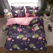 Flamingo Luxury Bedding Set Russia Euro Queen Double Single King Size Duvet Cover Set 3/4PCS Family Bed Linen Set Home Textile(China)