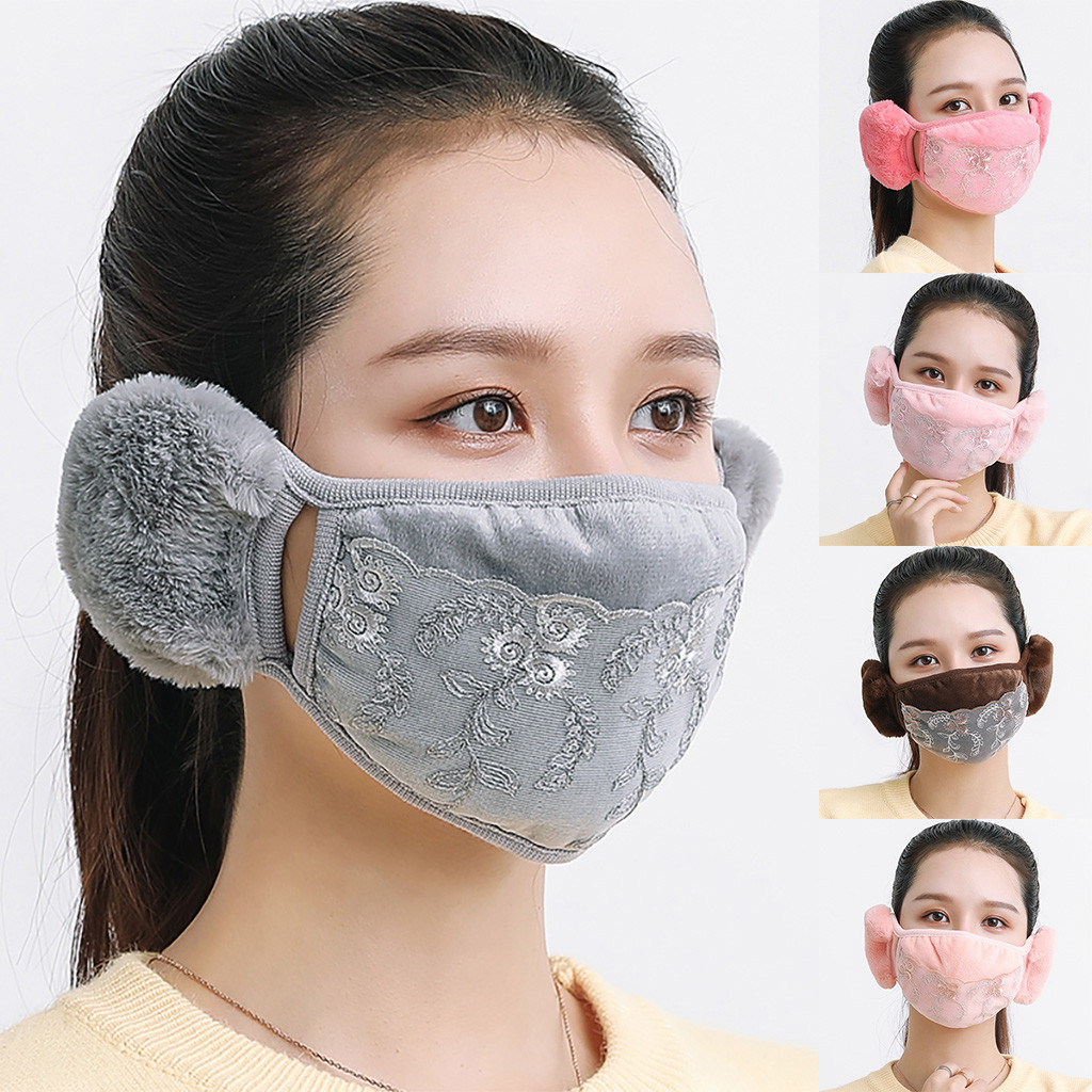 Cute Dustproof Mouth Face Mask With Ear Hoop Winter Warm Breathable Women Men Masks Adjustable Mask Mouth Cover For Outdoor #ST|Cycling Face Mask|   - AliExpress