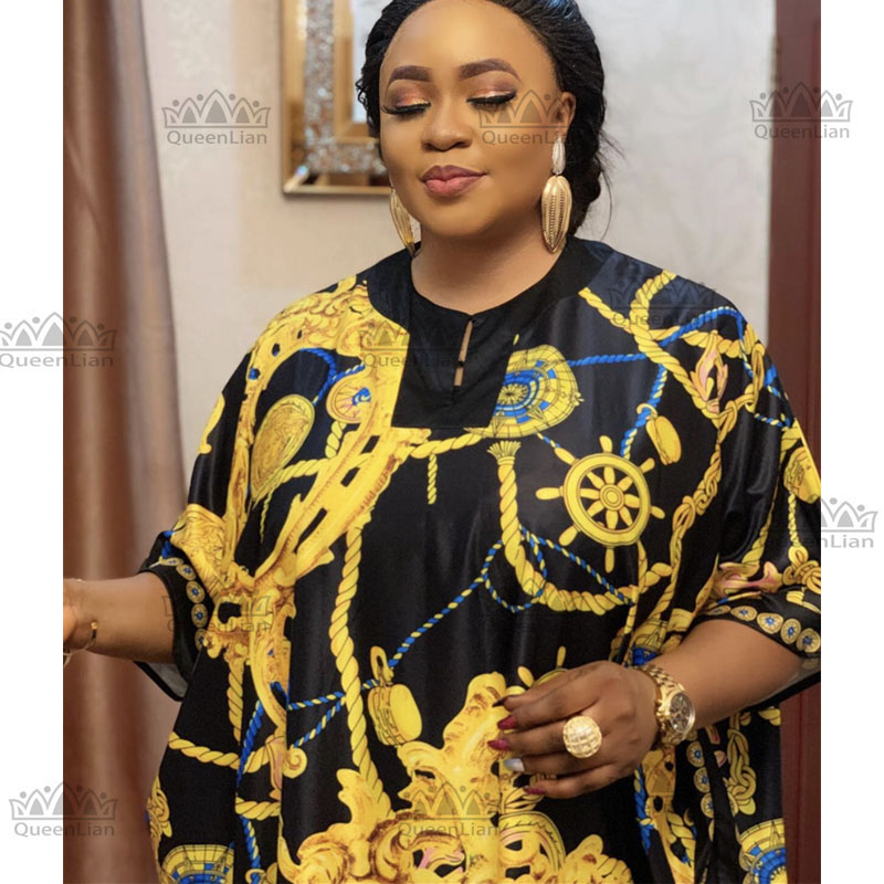 2020 New Fashion Oversize African Chiffon Loose Long Dashiki Traditional Party Dress For Lady (CPFSZ1)