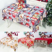 Mantel de Navidad cubierta de la Mesa de vacaciones Navidad cena decoración de fiesta nuevo